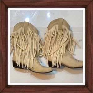 Shoes - COWGIRL FRINGE BOOTS